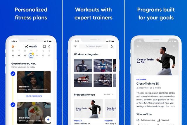 Aaptiv - mejor aplicación de fitness
