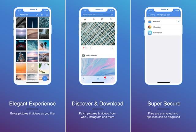 GalleryVault - aplicación para ocultar tus fotos